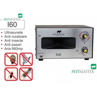 Aparat industrial cu ultrasunete impotriva rozatoarelor, pasarilor si insectelor Pestmaster I60  660 mp