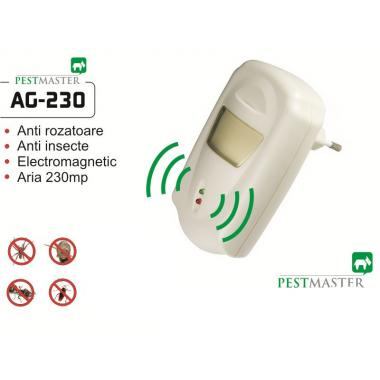 Pest Repeller  aparat cu unde electromagnetice anti gândaci, anti rozătoare Pestmaster AG230 230mp