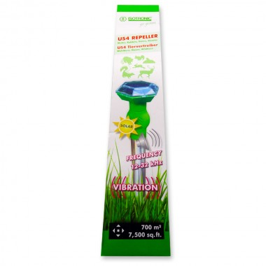 Aparat cu vibratii si ultrasunete anti rozatoare, lilieci, vulpi, soareci, sobolani, veverite PR 220.4 Electronic Pest Repeller  360 mp