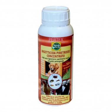 Pertex insecticid concentrat lichid pentru combatere tantari, muste, purici, capuse, paduchi si alti paraziti ai animalelor 500ml