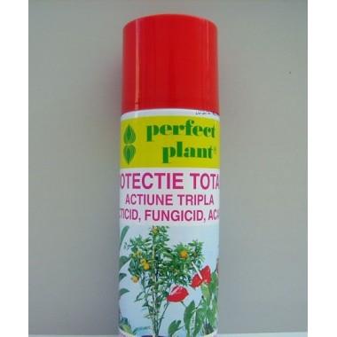 Spray Protectie Totala Actiune Tripla: insecticid, fungicid, acaricid Perfect Plant 600ml