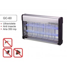 Aparat anti-insecte pe baza de lampi UV si retea de inalta tensiune electrocutoare GC 60