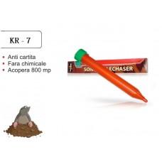 Dispozitiv pentru combaterea rozatoarelor subterane, jder, dihor, sobolan de camp KR-7