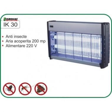 Aparat cu ultraviolete impotriva insectelor zburatoare IK 30 acopera aproximativ 200 mp