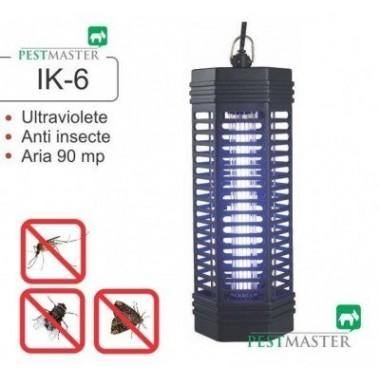 Distrugator de insecte zburatoare precum muste, tantari, molii  Pestmaster IK6 acopera aproximativ 90mp