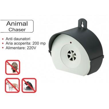 Animal Chaser  aparat cu ultrasunete pentru uz exterior impotriva soarecilor si rozatoarelor  200 mp