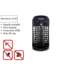 Aparat portabil anti insecte Biometrixx S100 conectare USB acoperă aproximativ 20 mp