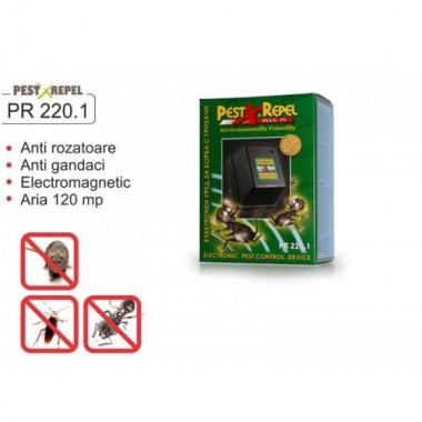 Aparat anti rozatoare si gandaci cu unde electromagnetice  PR 220.1  120 mp