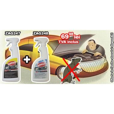 Oferta! Spray împotriva mirosului de rozătoare ZAG248 și Spray anti rozătoare ZAG247